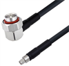 Low Loss 7/16 DIN Male Right Angle to SMA Male Cable Assembly using LMR-400 Coax, 3 FT with Times Microwave Components -- LCCA30298-FT3 -- View Larger Image