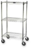 Storage Bin Cart,2 Shelves,w/4 Casters -- 9G5900 CHRM