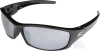 Edge Reclus Safety Glasses with Black Frame and Silver -- SR117
