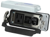 Panel interface connector Mencom DP1-RJ45-R-16LS