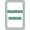 High Density Plastic Sign - Reserved Parking