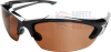 Edge Khor Safety Glasses with Black Frame and Copper Driving -- SDK115