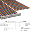 Rectangular Cable Assemblies -- H1CXH-6436M-ND -- View Larger Image