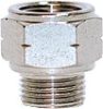 Nickel Plated Brass Pipe Fitting -- 2521 3/8-06 -- View Larger Image