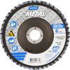 Norton Metal ZA Coarse Center Mount Fiberglass Conical Flap Disc -- 66254491778 - Image
