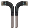 Category 5E LSZH Right Angle Patch Cable, Right Angle Left/Right Angle Right, Gray, 3.0 ft -- TRD815ZRA8GRY-3 -Image