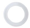 Sanitary gasket, antimicrobial platinum-cured silicone, 1/2