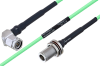 Temperature Conditioned TNC Male Right Angle to N Female Bulkhead Low Loss Cable 24 Inch Length Using PE-P160LL Coax -- PE3M0217-24 -- View Larger Image