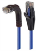 Category 5E Right Angle Patch Cable, Straight/Right Angle Down, Blue 10.0 ft -- TRD815RABL-10 -Image