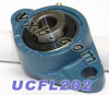 15mm Bearing UCFL202 + 2 Bolts Flanged Cast Housing -- Kit7332