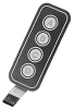 KEYPAD, 100MA, 1 X 4, MATRIX -- 25M3606 - Image