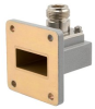WR-112 to Type N Female Waveguide to Coax Adapter UBR84 with 6.57 GHz to 9.99 GHz in Aluminum -- FMWCA1089