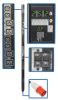 3-Phase Switched PDU, 25.2kW, 24 240V Outlets (12 C13, 12 C19), IEC309 60A Red (3P+N+E) 415V Input, 0U Vertical Mount -- PDU3XVSR6G60A