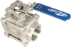 3-PC Direct Mount Industrial Ball Valve -- EA-33NF-SE/SW/BW -- View Larger Image