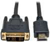 HDMI to DVI Cable, Digital Monitor Adapter Cable (HDMI to DVI-D M/M), 1080P, 30-ft. -- P566-030 -- View Larger Image