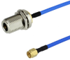 SMA Male to N Female Bulkhead Cable FM-F141 Coax in 6 Inch -- FMC0211141-06 -- View Larger Image