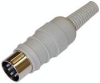 Din 5 Pin Cable Mt(m) Threaded 45 Degree Pin Configuration. -- CA-MAS5100S