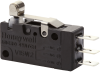 MICRO SWITCH V15W2 Series Explosion Proof Basic Switch, quick-connect terminals, SPDT, 100 g max. operating force, roller lever (lever pivot far from plunger), metric mounting holes, silver alloy cont -- V15W2-EZ100A05-W2 - Image