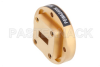 WR-42 Waveguide Bulkhead Adapter UG-595/U Square Cover Flange, 18 GHz to 26.5 GHz -- PEWAD5006 - Image