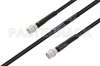 MIL-DTL-17 SMA Male to SMA Male Cable 24 Inch Length Using M17/28-RG58 Coax -- PE3M0119-24 -Image