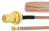 RP SMA Female Bulkhead to UMCX 2.5 Plug Cable RG178-DS Coax in 9 Inch and RoHS Compliant -- FMCA1020-9 -Image