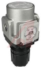 Regulator; Modular; 1/4NPT ports; panelmount; square gauge in imperial units -- 70070496