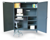 Computer Workstation with Accessories Cabinet -- 56-CC-244 - Image