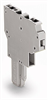 2-conductor female connector; for insertion into carrier terminal blocks or male connectors; codable; can be commoned with adjacent jumpers and staggered jumpers; 1-pole -- 769-121