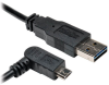 Universal Reversible USB 2.0 Cable (Reversible A to Right-angle 5Pin Micro B M/M), 3-ft. -- UR050-003-RAB - Image