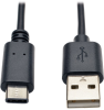 USB 2.0 Cable, USB Type-A Male to USB Type-C (USB-C) Male, 6-ft. -- U038-006 - Image