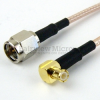 SMA Male to RA MCX Plug Cable RG-316 Coax in 12 Inch -- FMC0217315-12 -Image