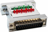 DB25 Male to DB25 Female Serial Tester with LEDS -- 31D3-E1