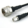 N Male to SMA Male Cable LMR-240-UF Coax in 24 Inch with Times Microwave Connectors and RoHS -- FMC0102245LF-24 -Image