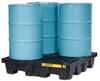 4 Drum EcoPolyBlend™ Spill Containment Pallet - Black -- PAL28635