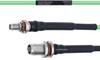 Temperature Conditioned Low Loss SMA Female Bulkhead to TNC Female Bulkhead Cable LL160 Coax in 18 Inch -- FMHR0192-18 -Image