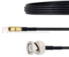 BNC Male to SSMC Plug Cable LMR-100 Coax in 6 Inch -- FMCA1489-6 -Image