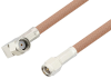 Reverse Polarity SMA Male Right Angle to SMA Male Cable 150 cm Length Using RG400 Coax -- PE3W06085-150CM -Image