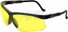 Uvex Genesis Safety Glasses with Black Frame and Amber Lens -- s3202