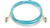 10m (32.8ft) LCLC Aqua OM3 MM Fiber Patch Cable INDR Zip OFNR -- EFNT010-010M-LCLC - Image
