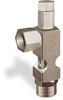 "(Formerly B1628-7X01), Angle Small Sight Feed Valve, 1/4"" Female NPT Inlet, 1/4"" Female NPT Outlet, Tamperproof -- B1628-133B1TW -- View Larger Image"
