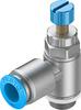 GRLA-1/4-QS-10-RS-D One-way flow control valve -- 534340-Image