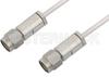 3.5mm Male to 3.5mm Male Cable 18 Inch Length Using PE-SR405AL Coax -- PE34576-18 -Image