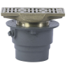 Floor Drain with Rectangular Strainer -- FD-200-RS -- View Larger Image
