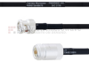 BNC Male to N Female MIL-DTL-17 Cable M17/84-RG223 Coax in 12 -- FMHR0031-12 -Image