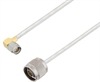 SMA Male Right Angle to N Male Cable Assembly using LC141TB Coax, 6 FT -- LCCA30411-FT6 -Image