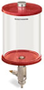 Red Color Key, Clear View Full Flow Manual Dispenser, 1/2 gal Pyrex Reservoir -- B5165-064PBRW -- View Larger Image