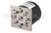 SP8T Electromechanical Relay Normally Open Switch, DC to 18 GHz, up to 90W, 12V, SMA -- PE71S6384 - Image