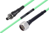 Temperature Conditioned SMA Female Bulkhead to N Male Low Loss Cable 36 Inch Length Using PE-P142LL Coax -- PE3M0149-36 -Image