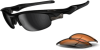 Oakley Fast Jacket Sunglasses with Polished Black Frame and -- OK-OO9097-01