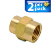 Connector Air Fitting: female, brass, for 1/2in NPT to 3/8in NPT, 2/pk -- BFFC-12N-38N -- View Larger Image
